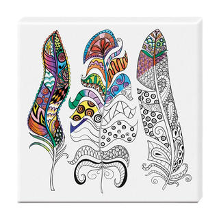 Zen-Color™ Keilrahmen-Bild - Federn Zen-Color™ - Die Art des Entspannens.