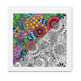 Zen-Color™ Keilrahmen-Bild - Blumenmeer Zen-Color™ - Die Art des Entspannens.