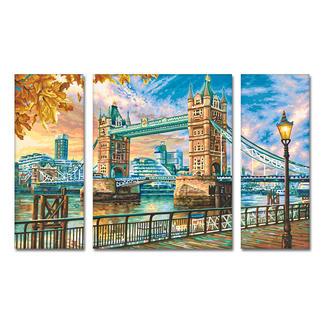 Malen nach Zahlen - Triptychon London Tower Bridge Malen nach Zahlen.