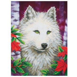 Diamond Dotz® - Weisser Wolf Diamond Dotz®: Steinchen für Steinchen zum spektakulären Ergebnis.