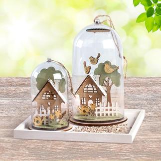 Gartenhäuser Minivitrinen – der Frühling im Kleinformat.