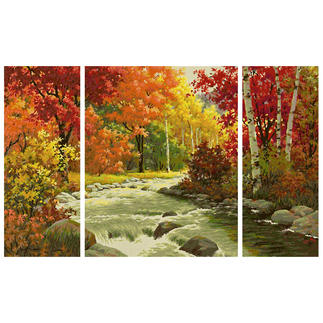 Malen nach Zahlen Triptychon - Flusslandschaft Malen nach Zahlen