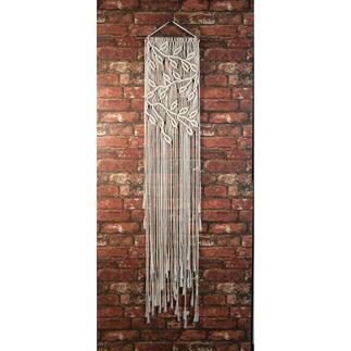 Makramee-Wandbehang - Blätter & Zweige Makramee-Wandbehang