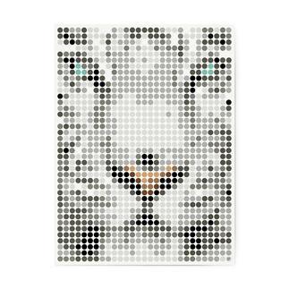 dot on art - Tiger, 30 x 40 cm dot on art Klebeposter
