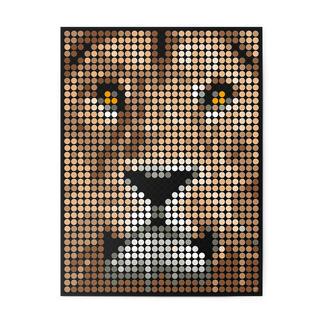 dot on art - Lion, 30 x 40 cm dot on art Klebeposter