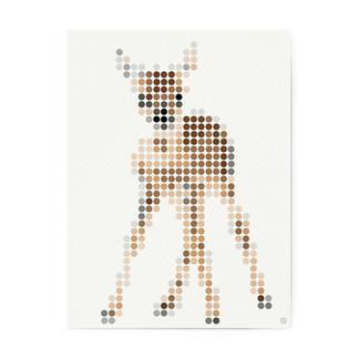 dot on art - My Deer, 30 x 40 cm dot on art Klebeposter