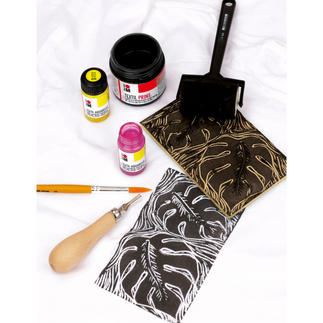 Set - Soft Linol Textil Print & Colouring Soft Linol Textil Print & Colouring
