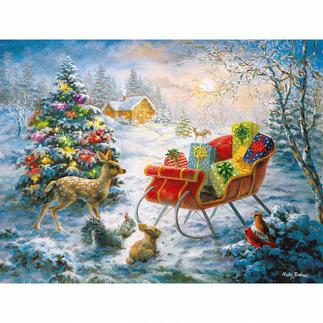 Puzzle - Weihnachten der Waldbewohner Ein Spass für die ganze Familie – spannend und entspannend zugleich.