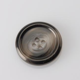 Grauer Knopf, Ø 25 mm, 1 Stück