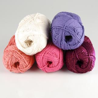 Baumwollgarn von Junghans-Wolle im 500 g Sparpaket Ideal zum Basteln und für Topflappen.