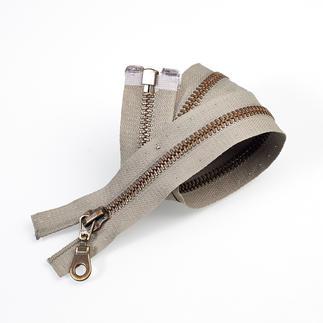 Reissverschluss, Grau, 50 cm