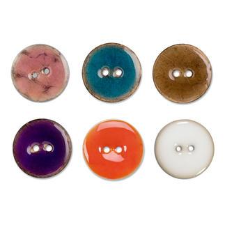 Jim Knopf Keramikeffekt-Knopf, 1 Stück