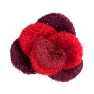 Jim Knopf Filz-Rose, Rot Jim Knopf Filz-Rose