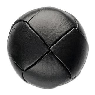 Klassischer Lederknopf, Schwarz, Ø 20 mm, 1 Stück