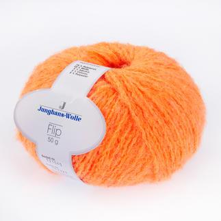 Flip von Junghans-Wolle - % Angebot %, Orange Flip von Junghans-Wolle - % Angebot % Super leichtes Garn mit geringem Verbrauch.