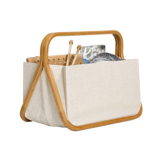 Fold & Store Basket Canvas meets Bamboo