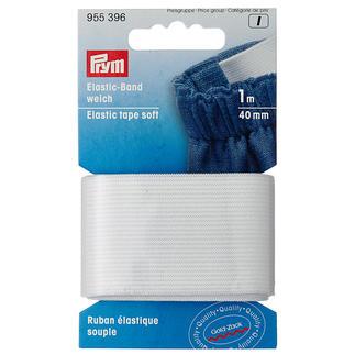 Prym Elasticband, Weiss, 4 mm breit, 1 m lang Prym Elasticband, Weich