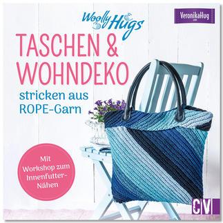 Buch - Woolly Hugs Taschen & Wohn-Deko stricken aus ROPE-Garn