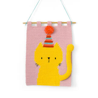 Wandbehang - Party Cat