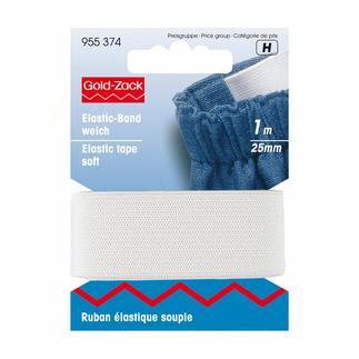 Elastikband weich, 25 mm breit, Weiss