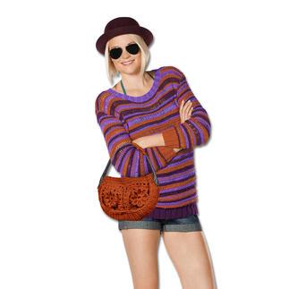 Anleitung 128/5, Pullover aus Bandana von Junghans-Wolle