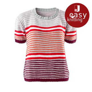 Anleitung 032/6, Pullover aus Cotonia II von Junghans-Wolle