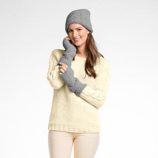 Anleitung 243/6, Damenmütze und Pulswärmer, 2-fädig aus Peru von Junghans-Wolle