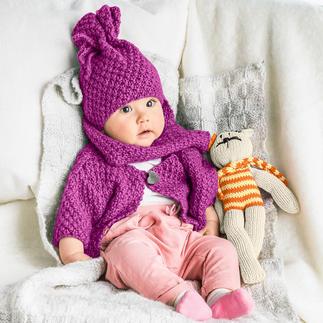 Anleitung 470/6, Baby-Jacke, Mütze und Schal aus Novata von Junghans-Wolle