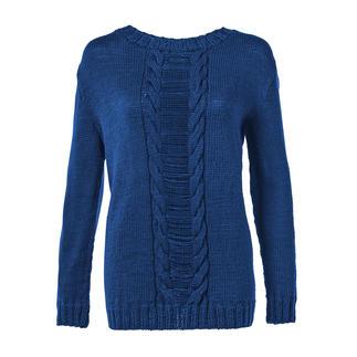 Anleitung 071/8, Damenpullover aus Merino-Cablé von Junghans-Wolle