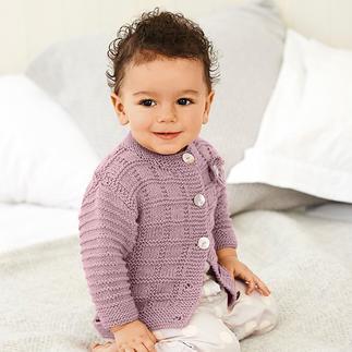 Anleitung 075/8 A, Baby Jacke mit Rundhalsausschnitt aus Baby Classic dk von Rico Design