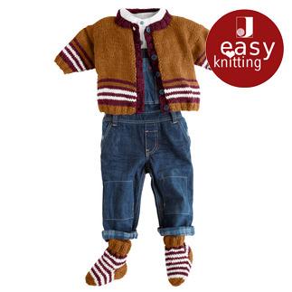 Anleitung 137/8, Babyjacke mit Söckchen aus Aparta-Nova von Junghans-Wolle