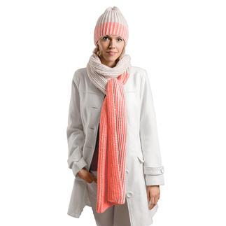 Anleitung 340/8, 2-farbige Mütze, Umfang 54 cm und 2-farbiger Schal, ca. 30 x 210 cm aus Creative Soft Wool Aran von Rico Design