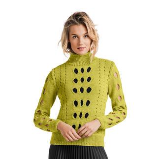Anleitung 355/8, Pullover aus Merino-Cablé von Junghans-Wolle
