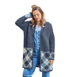 Anleitung 430/8, Häkeljacke aus Plan und Sheep Uni von Woolly Hugs