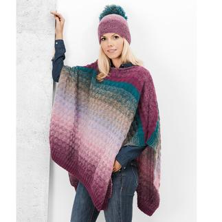 Anleitung 440/8, Poncho ca. 104 x 68 cm aus Creative Wool Dégradé Super 6 von Rico Design