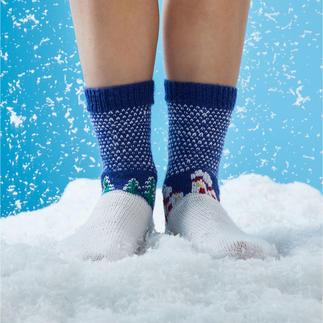 Anleitung 445/8, Socken mit Winterlandschaft aus Regia Uni, 4-fädig von Schachenmayr