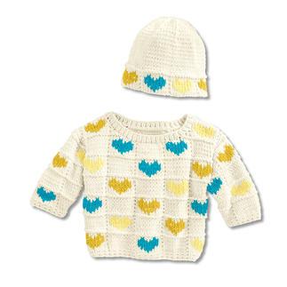 Anleitung 006/9, Babypulli mit Mütze aus Cotonara von Junghans-Wolle