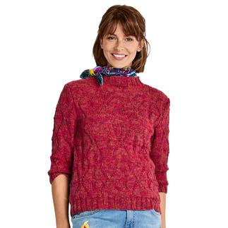 Anleitung 216/9, Pullover aus Merino-Cablé Melange von Junghans-Wolle