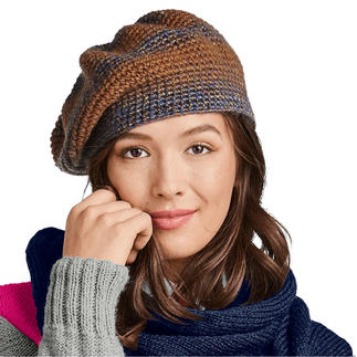Anleitung 241/9, Baskenmütze aus Monello-90 Color von Junghans-Wolle