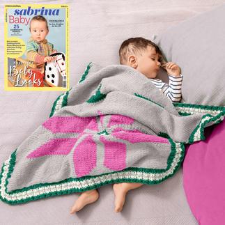 Anleitung 266/9, Baby-Decke aus Merino-Classic von Junghans-Wolle Anleitung 266/9, Baby-Decke ca. 78 x 72 cm aus Merino-Classic von Junghans-Wolle