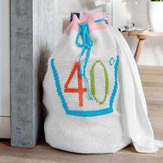 Anleitung 029/0, Wäschesack aus Basic-Cotton von Junghans-Wolle