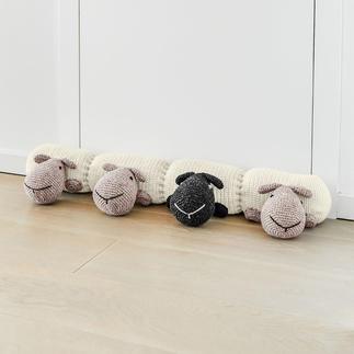 Anleitung 076/0, Zugluftstopper Länge ca. 75 cm mit Schäfchen aus Landwolle von Junghans-Wolle