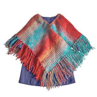 Anleitung 242/0, Kinderponcho aus Monello-90 Color von Junghans-Wolle