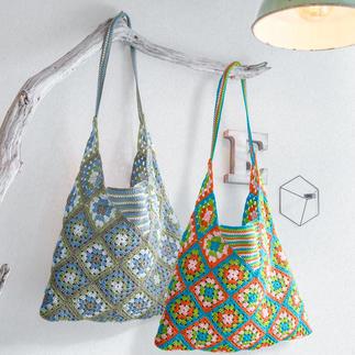 Anleitung 258/0, Tasche B, gehäkelt, aus Basic-Cotton von Junghans-Wolle