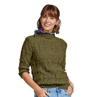 Anleitung 435/0, Pullover aus Merino-Cablé von Junghans-Wolle