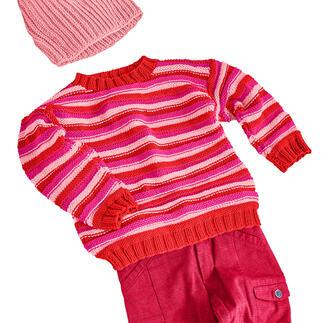 Anleitung 442/0, Kinder Pullover aus Merino-Cotton von Junghans-Wolle