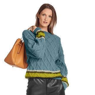 Anleitung 167/1, Pullover aus Merino-Cablé von Junghans-Wolle