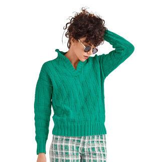Anleitung 186/1, Polo-Pullover aus Cotonara von Junghans-Wolle