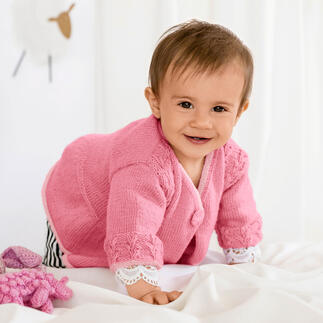 Anleitung 220/1, Babyjacke aus Baby Merino von Schoeller+Stahl Anleitung 220/1, Babyjacke aus Baby Merino von Schoeller+Stahl