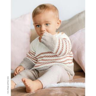 Anleitung 411/1, Baby-Pullover aus Cotton in Love von Katia